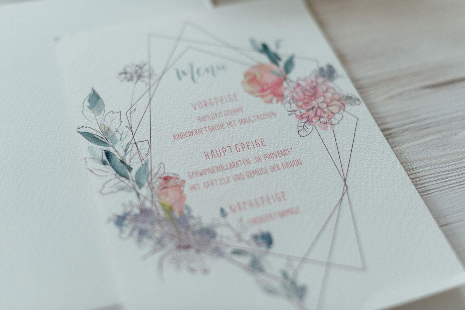 Fruhlingsblumen Menukarten Zur Hochzeit Hannah Antenna
