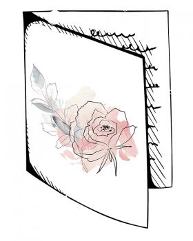 Hochzeitskarten Hochzeit Karte Individuelle Hochzeitspapeterie Illustration
