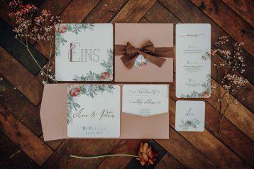 Nachhaltige Hochzeitseinladungen und Hochzeitspapeterie