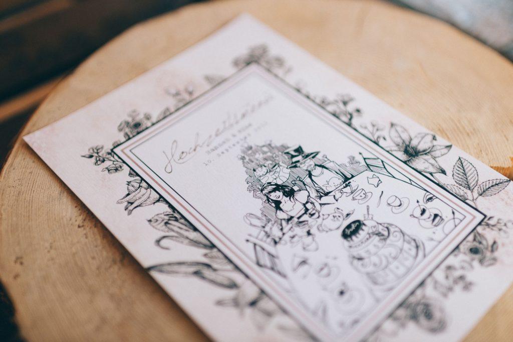 Alice im Wunderland Speisekarten Menükarten Hochzeitskarten Hochzeitspapeterie Individuell Vintage Hochzeit Karte Hochzeitsmotto Disney