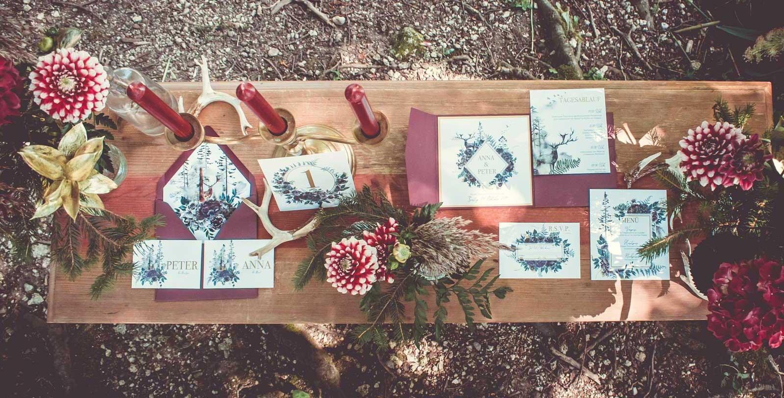 Hochzeit Hochzeitspapeterie Hochzeitskarten Hochzeitseinladungen Pocketfold Hochzeitsmotto