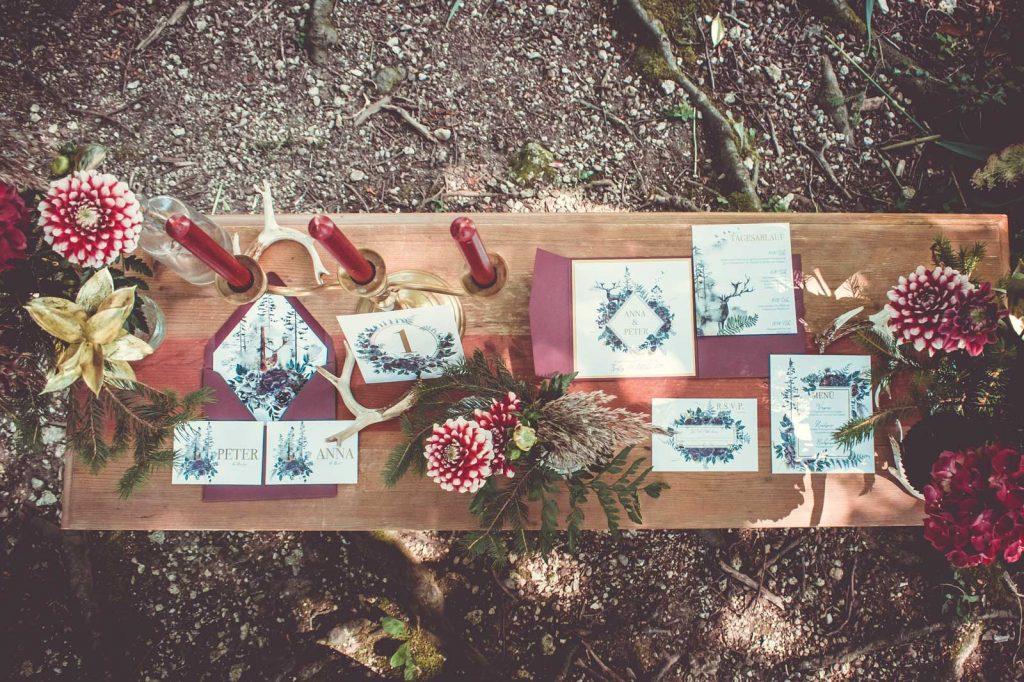 Hochzeitskarten Fur Eine Herbsthochzeit Hochzeitspapeterie Von