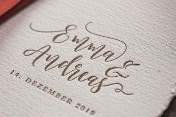 Hochzeitseinladung Letterpress Hannah Antenna Hochzeitskarten Hochzeitspapeterie
