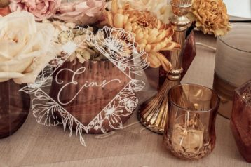 Hochzeitseinladungen Acryl