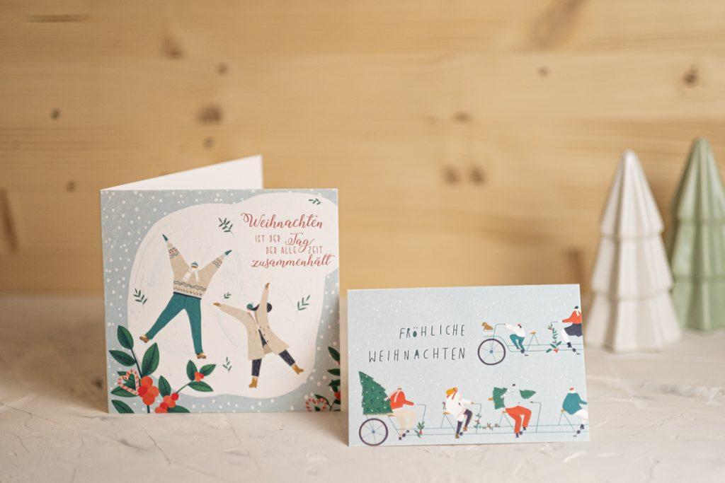 Weihnachtskarte bestellen online kaufen Aquarell für Freund Freundin familie besondere weihnachtskarte modern handlettering kreativ hand lettering engel liebe individuelle Papeterie Weihnachten Weihnachtspapeterie